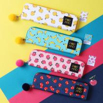Pop art fruit slim pencil case