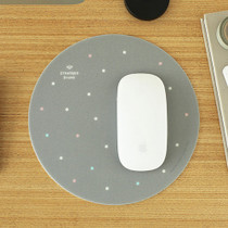 Gray dot pattern standard round mouse pad