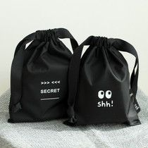 Life and travel secret drawstring small pouch