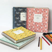 Willow pattern classic wirebound drawing notebook