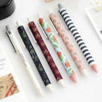 Unique pattern knock retractable pen