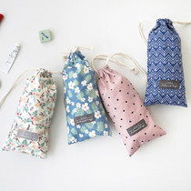 Comely cotton long drawstring pouch