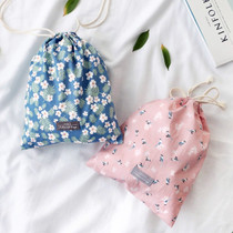 Comely cotton large drawstring pouch