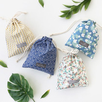 Comely cotton medium drawstring pouch