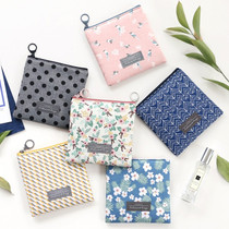 Comely pattern small flat zipper pouch