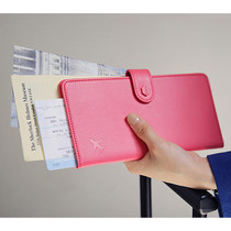 Travel RFID blocking long passport case