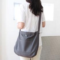 Charcoal - Around'D two pocket bag - medium