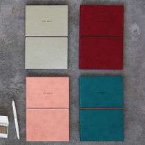 Agenda large plain and lined notebook