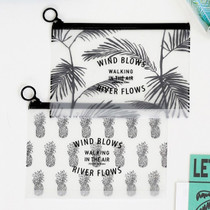 Wind blows clear zip lock medium pouch