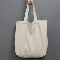 Natural and Pure linen eco large tote bag - Ivory