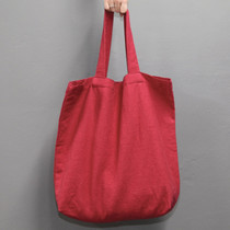 Natural and Pure linen eco large tote bag - Red