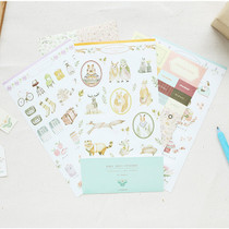 Mori illustration deco sticker set