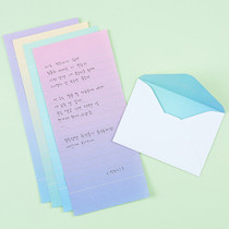 Simple and unique colour mini letter paper and envelope set