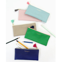 Simple zipper pencil case with tassel