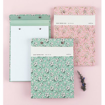 Flower pattern snap A5 quadrille notepad