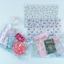 Pattern bling clear zip lock large pouch