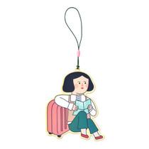 Du dum girl travel luggage name tag
