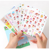 Red riding hood and friends sticker set