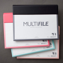 Multi file folder pouch with clipboard