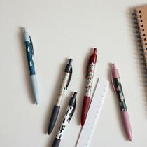 Pattern knock retractable color gel pen