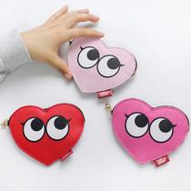 Hello heart slim card case wallet