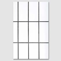 White Square paperback plain notebook