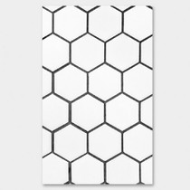 White Hexagon paperback plain notebook