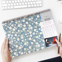 2017 Iconic Comely desk monthly dated planner