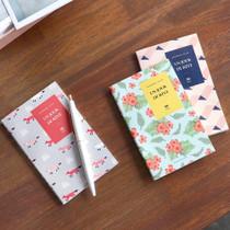 Iconic Pocket thread stitching plain notebook