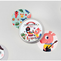 Friends circle sticker set with tin case
