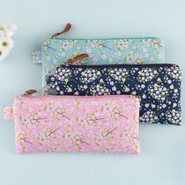 Cherry blossom pattern zipper pouch
