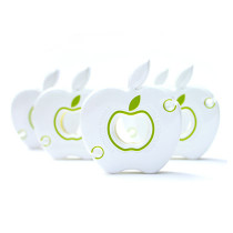 Earphone cable winder - apple white