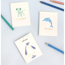 Pastel blue - Folding message card set