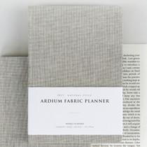 2017 Ardium Linen fabric cover dated planner scheduler