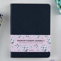 Ardium Premium flower pattern navy weekly undated small journal
