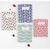 2017 Licoco flower pattern small dated diary