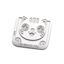 Bookfriends Fantastic cat steel bookmark