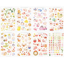 BOOKCODI Molang cute deco transparent sticker set ver.4