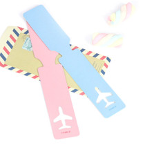 Fenice Simple airplan travel luggage name tag