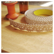Deco fabric lace tape - brown