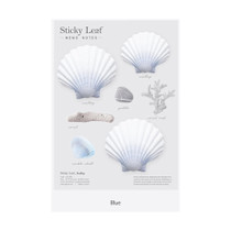 Blue - Appree Scallop sticky memo notes Large