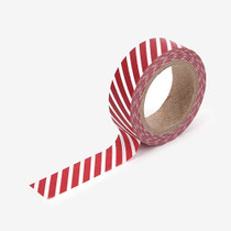"Dailylike 0.59""X11yd deco Masking tape single - Oblique line red"