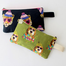 Fashionable animal webbing zipper pouch