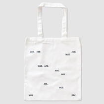 Paperpack Month eco canvas shoulder tote bag