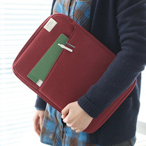 Brick red - A low hill basic standard file pouch bag ver.2