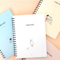 2young Soonhan 4 color index wirebound lined notebook