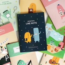 Indigo Monster illustration 3 notebook set