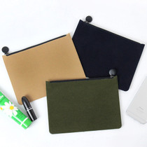 Fenice Seamless wool zipper multi pouch
