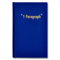 Paperpack 1 paragraph hardcover blue diary