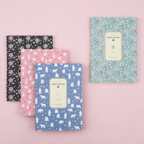 Colorful pattern large soft lined notebook
